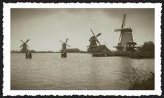 | die windmühlen von zaanse schans |