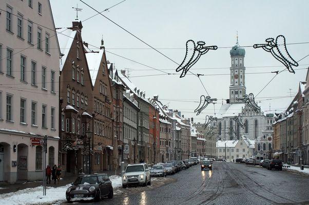 Die winterliche Maximilianstraße