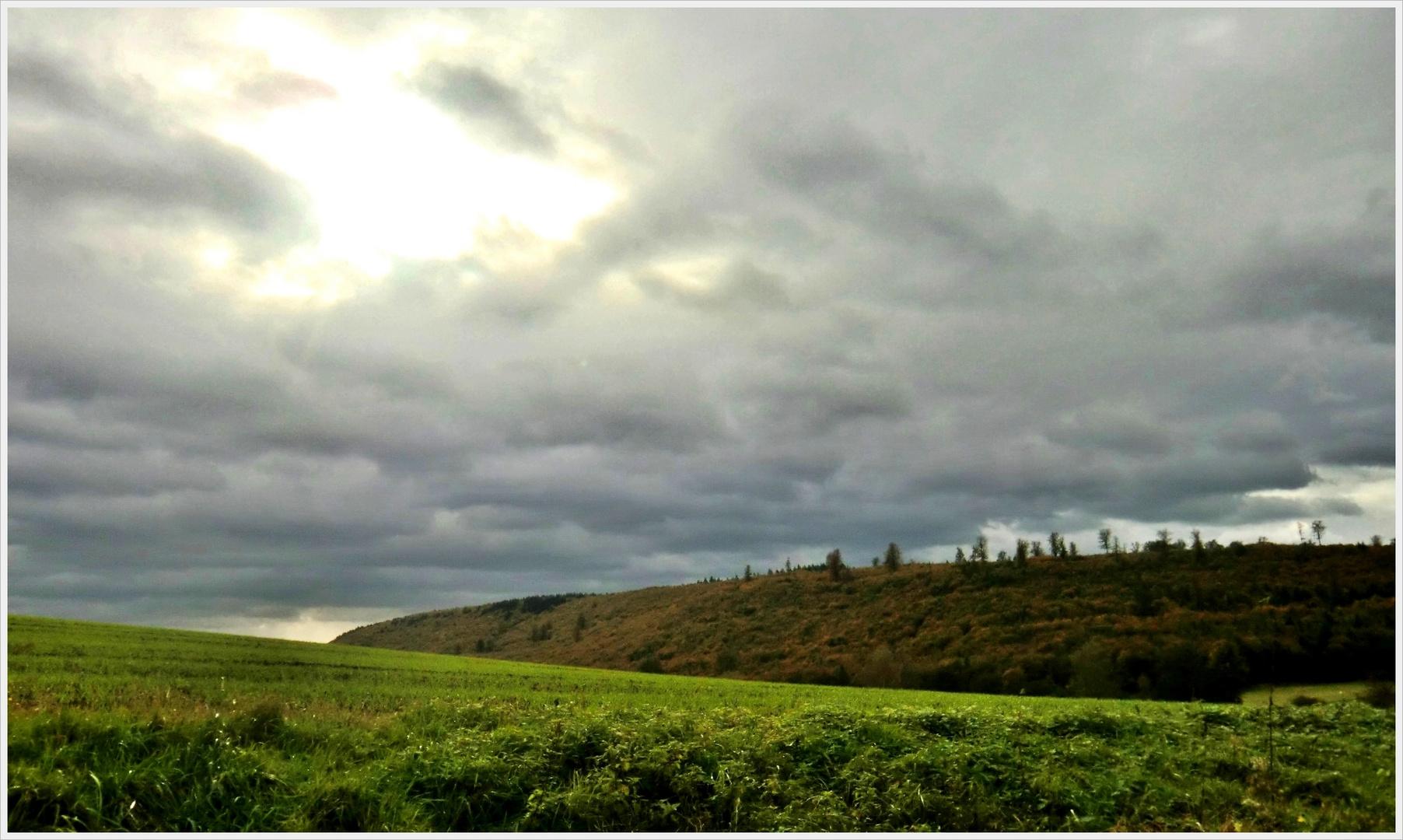 Die Wolken zogen weiter
