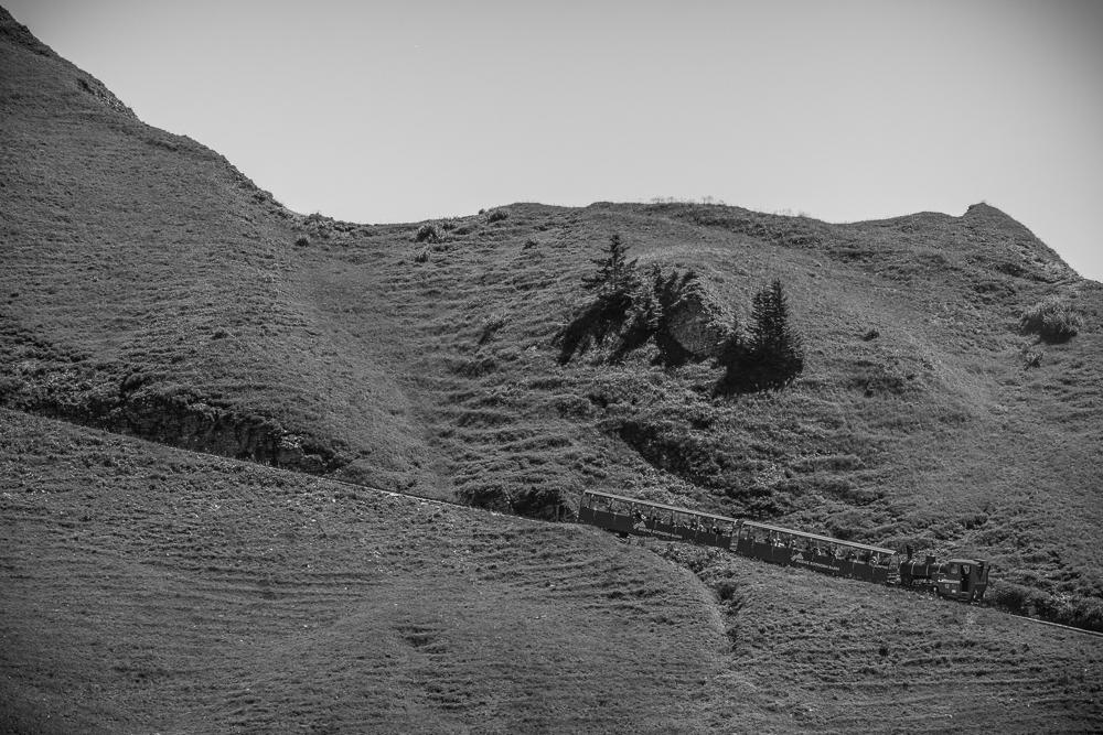 Die Zahnradbahn auf das Brienzerrothorn