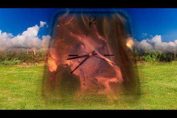 Die Zeit ist das Feuer in dem wir verbrennen. Noch haben wir Zeit.
