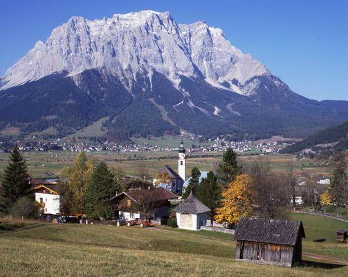 Die Zugspitze bei Ehrwald
