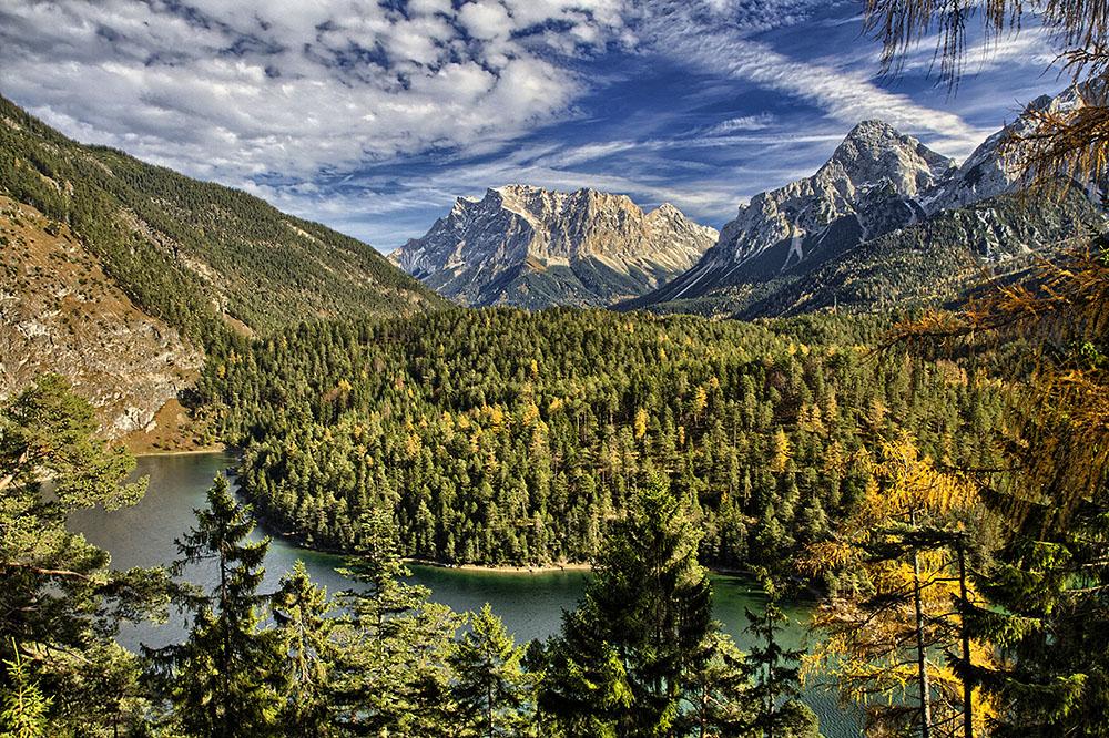 Die Zugspitze mit dem Blindsee