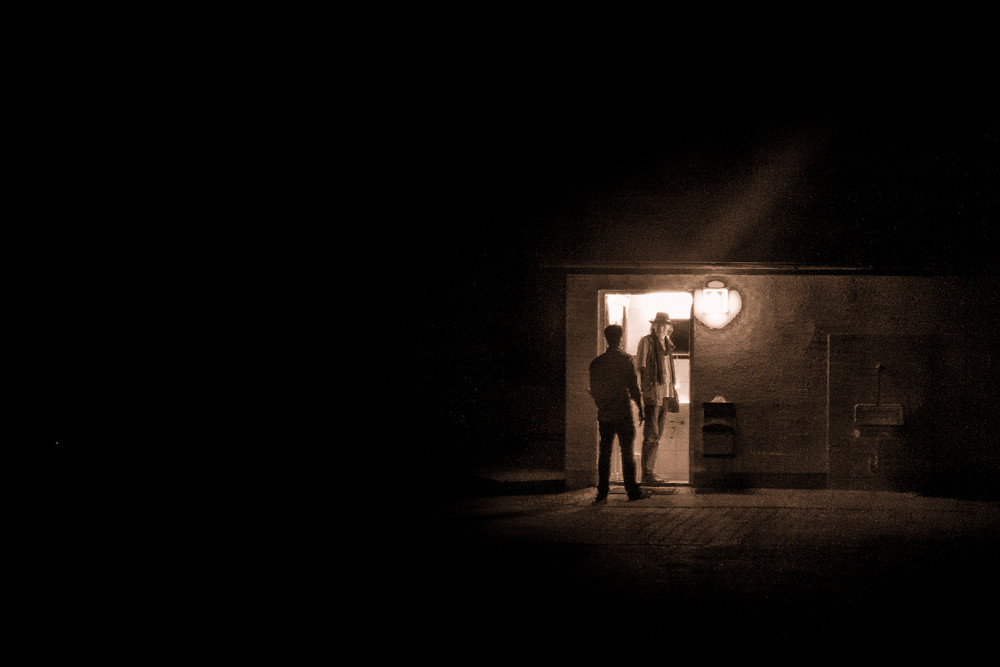 Die zwei Herren vom Toilettenhäuschen