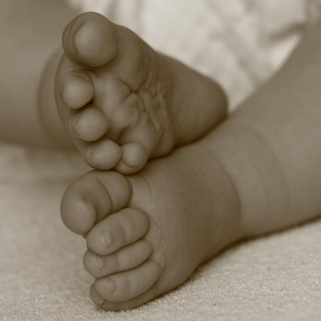 Diese Füße werden noch eine menge Meter zurücklegen.