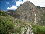 diese peruanischen Gleise werden noch täglich benützt..