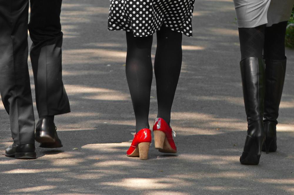 Diese roten Schuhe musste ich aufs Foto bannen !