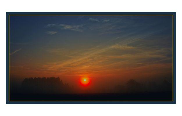 diese Woche auf dem Land (Sonnenaufgang Richtung Alb)