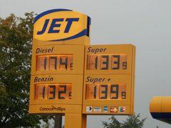 Diesel 1.74 €, ich hoffe..............