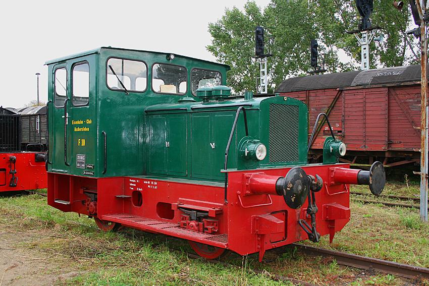 Diesellok F10 des Eisenbahnclub Aschersleben