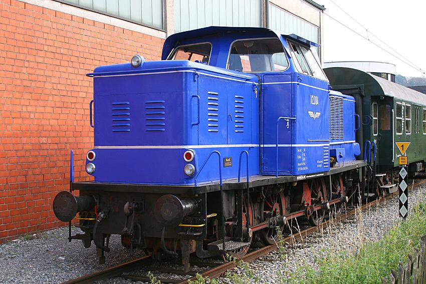 Diesellok V2.004 des Vereins Braunschweiger Verkehrsfreunde