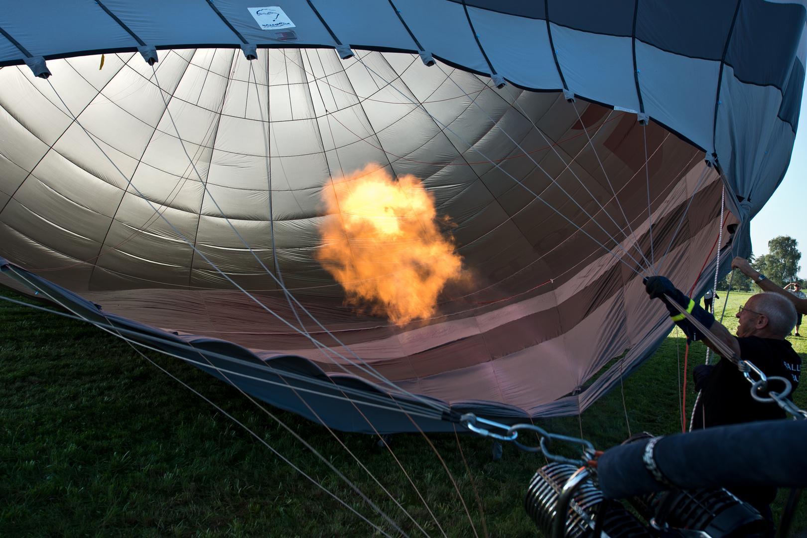 Dieser Ballon hatte die erste Jungfernfahrt vor sich.