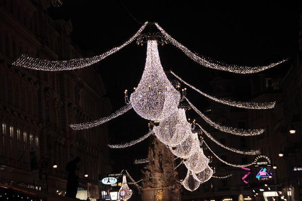Dieses Mal die echte Weihnachtsbeleuchtung am Wiener Graben