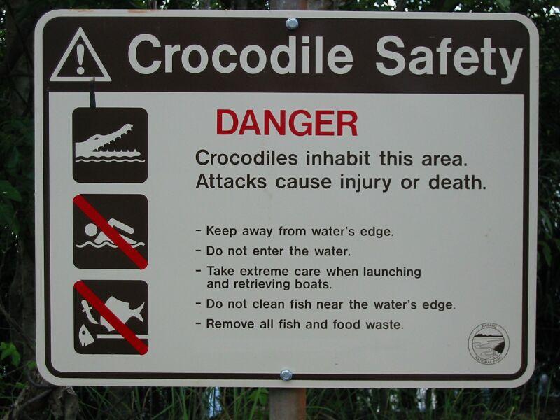 Dieses Schild sollte man unbedingt beachten..
