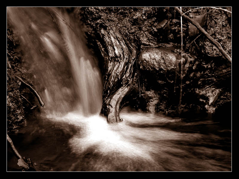 different little waterfall