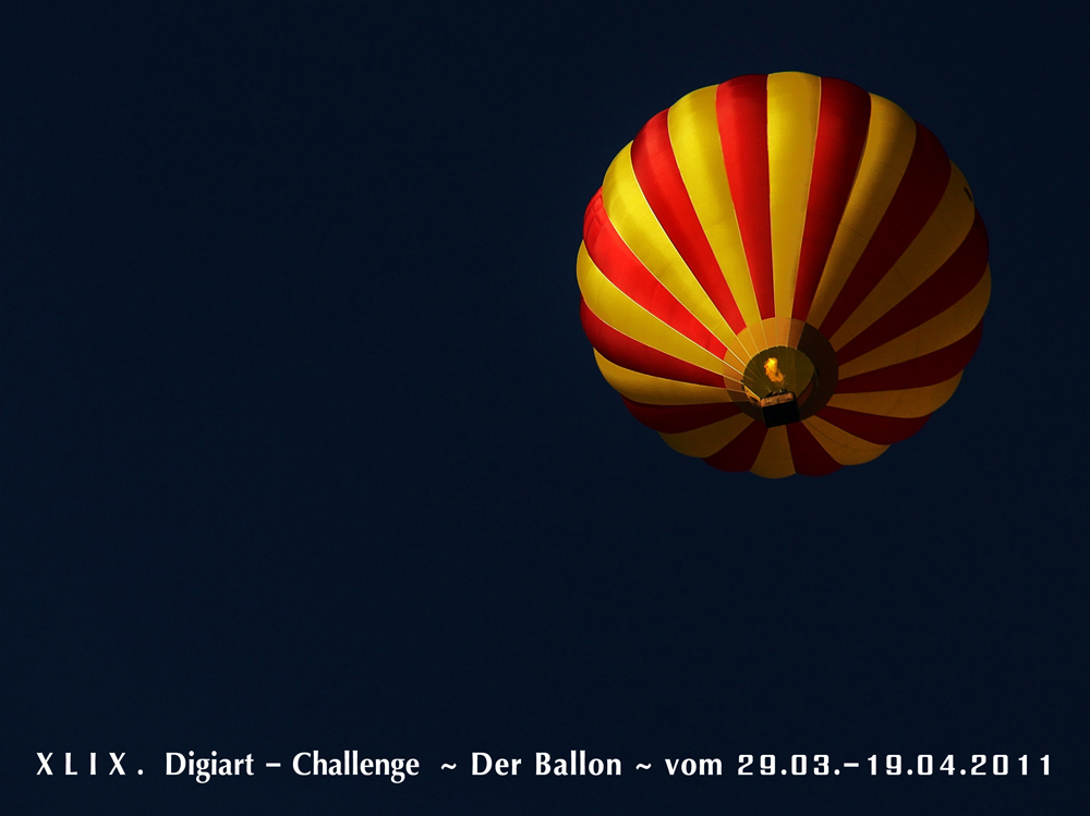 Digiart-Challenge XLIX ~ Der Ballon ~