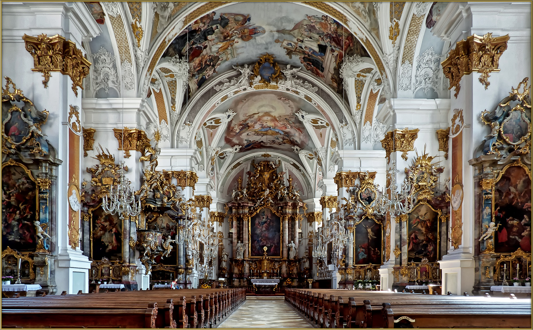 dillingen an der donau studienkirche maria himmelfahrt ehemalige jesuitenkirche foto bild. Black Bedroom Furniture Sets. Home Design Ideas