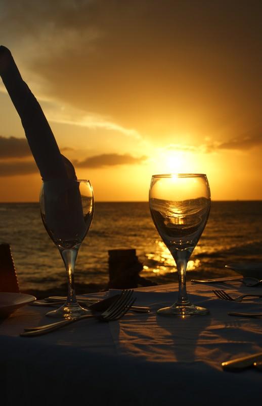 Diner sur la plage
