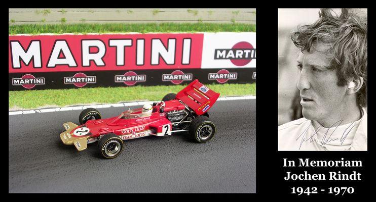 Diorama 1:43 in Memoriam Jochen Rindt