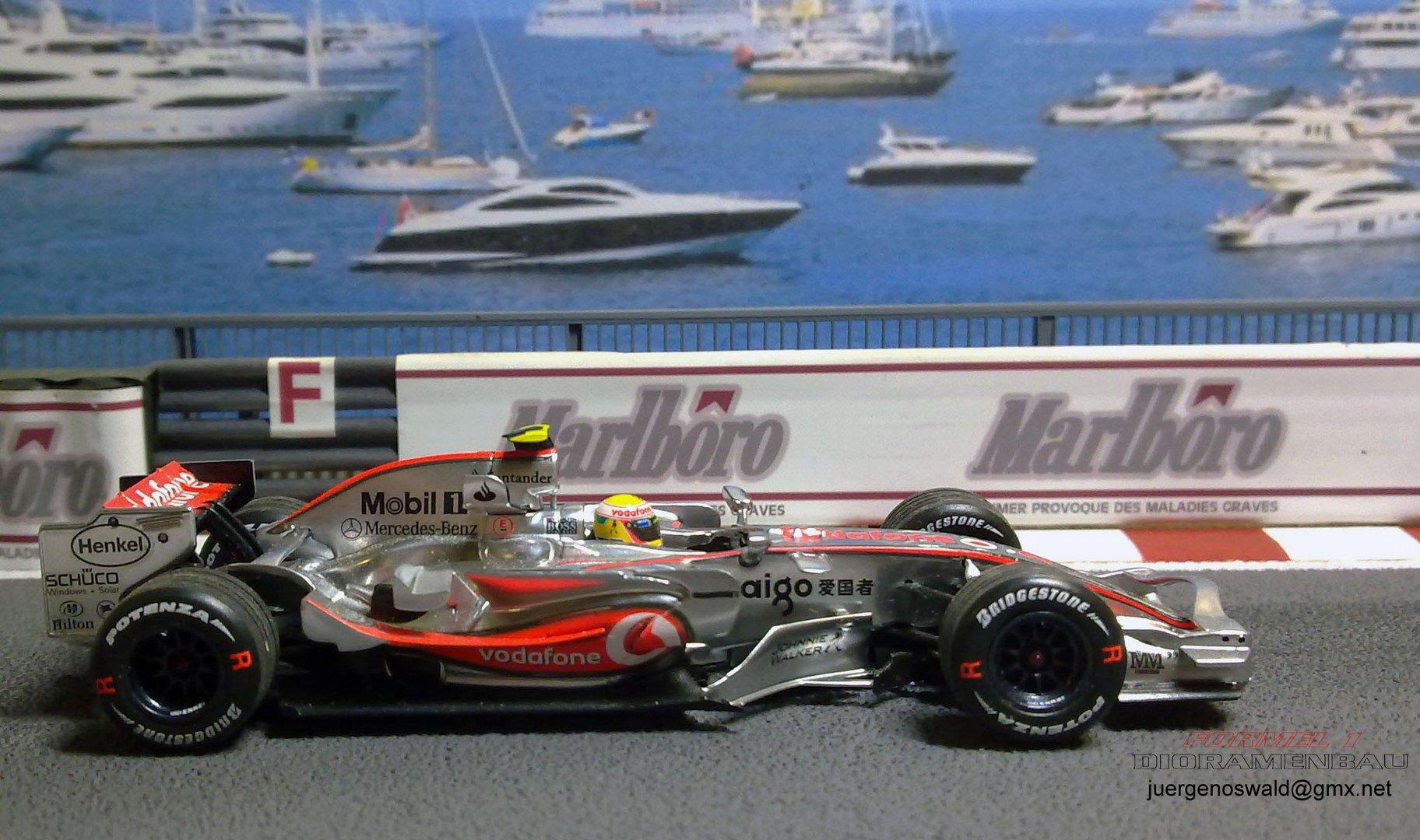 Diorama 1:43 Monaco 07 Hamilton