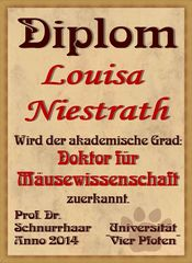 Diplom für Louisa