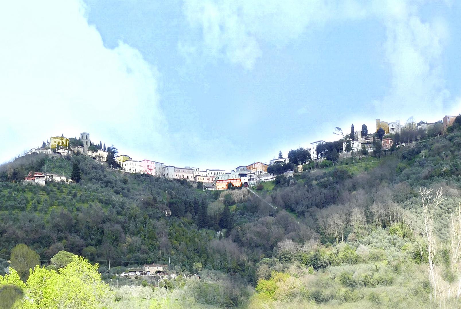 Direccion al funicular Montecatini Terma
