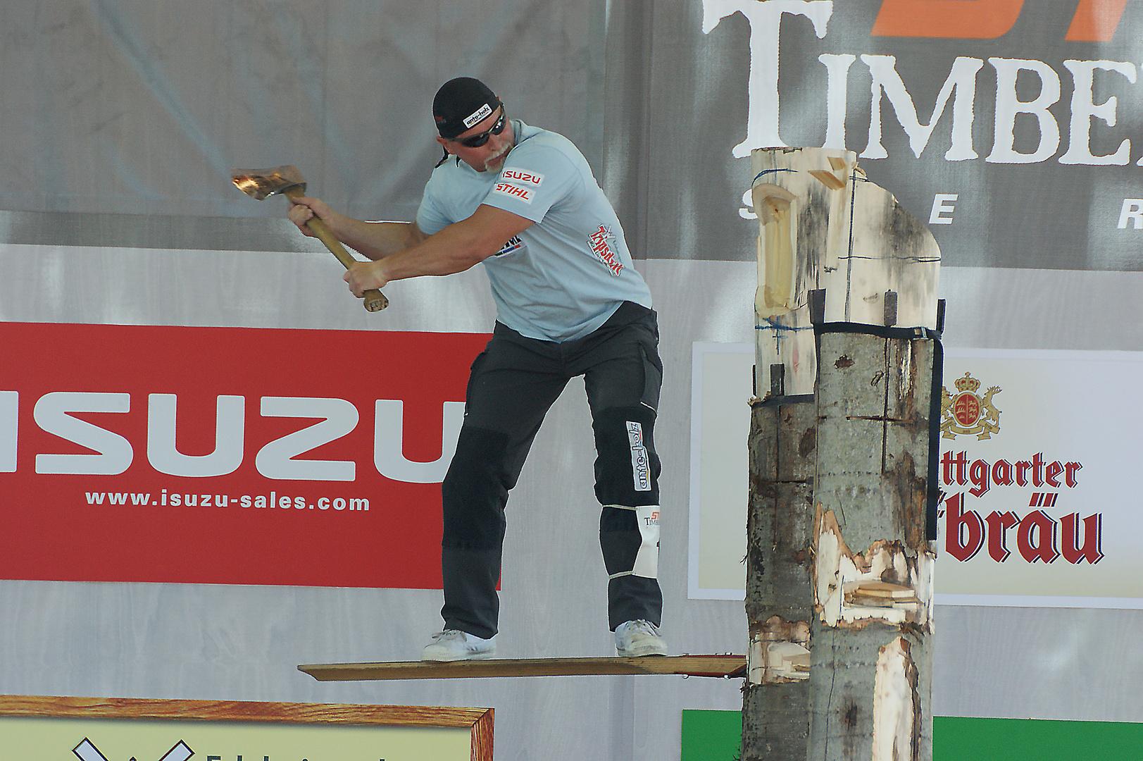 Dirk Braun bei der Deutschen Timbersports Meisterschaft 2010