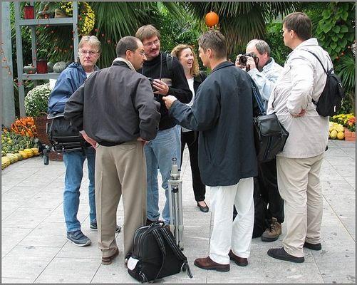 Diskussion unter Fotografen