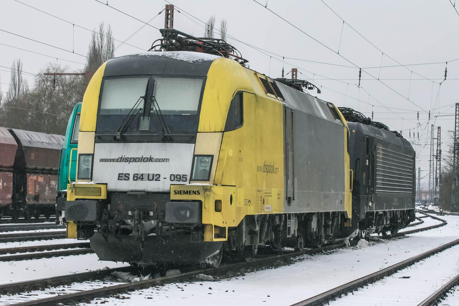 Dispolok ES 64 U2-095 in Wanne-Eickel auf Üwf
