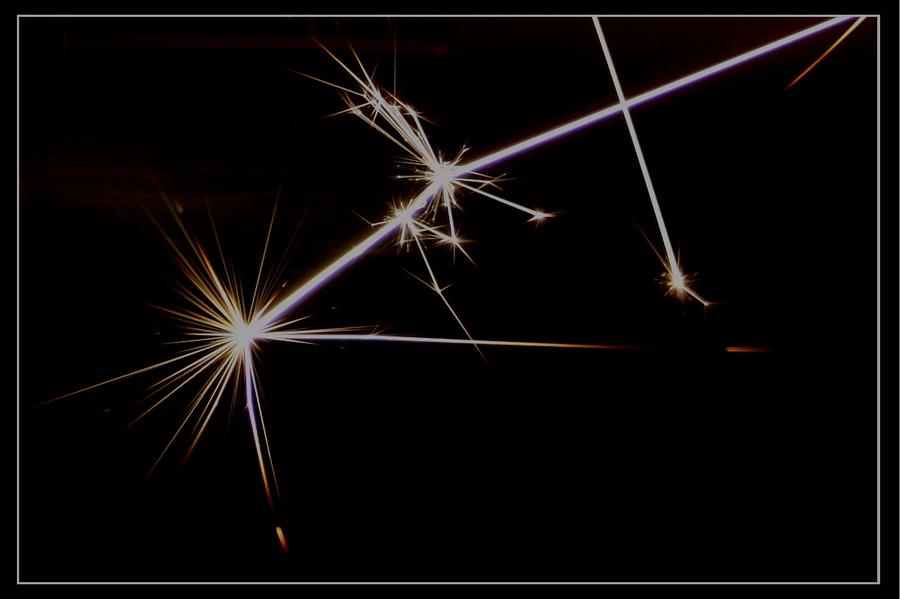 Distel aus Licht