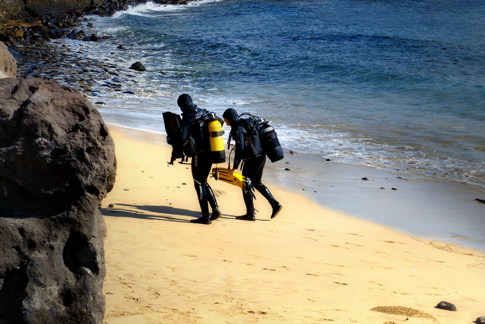 ... divers on Lanzarote