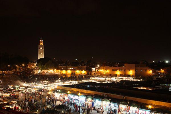 Djemaa El Fna by night