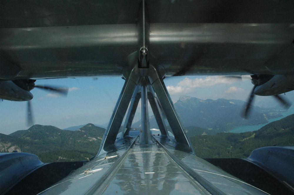 Do-24 ATT Anflug auf den Wolfgangsee