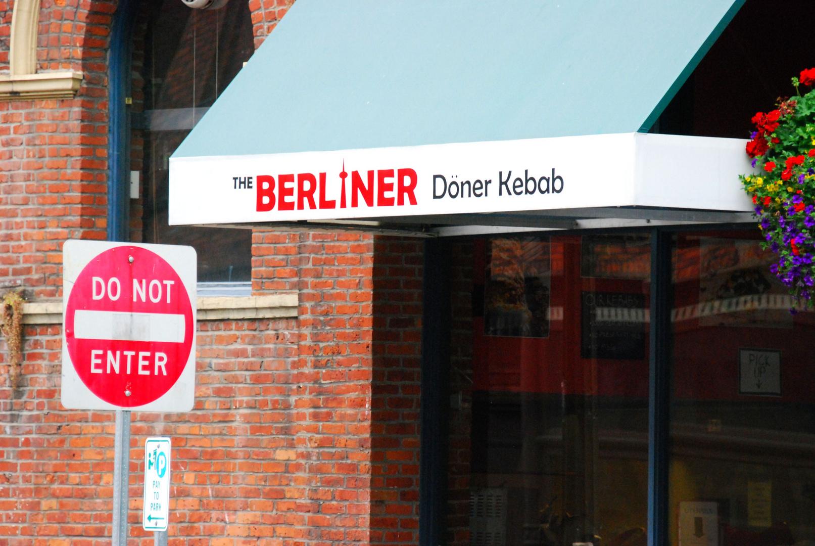 Do not enter the Berliner Döner Kebab