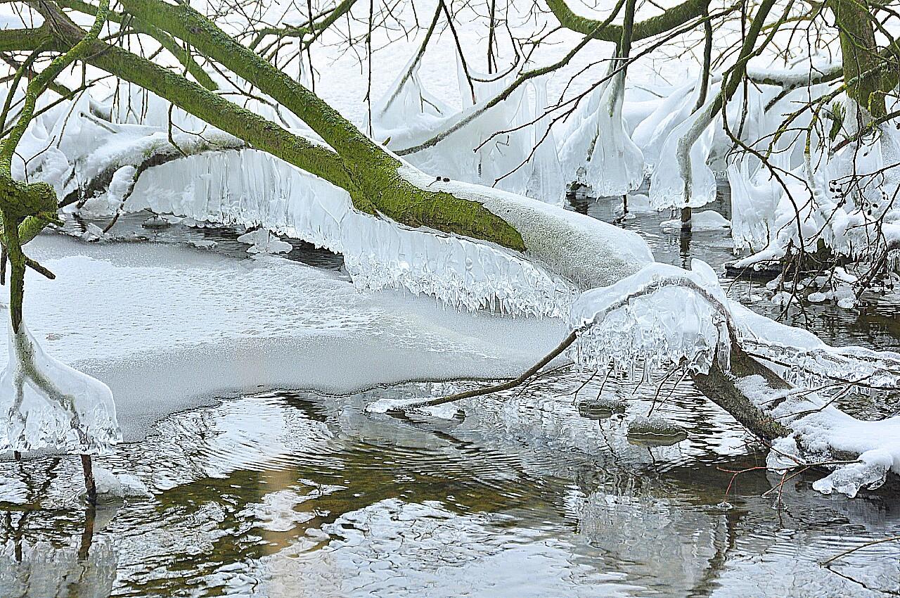 Dobersdorfer See in Eis