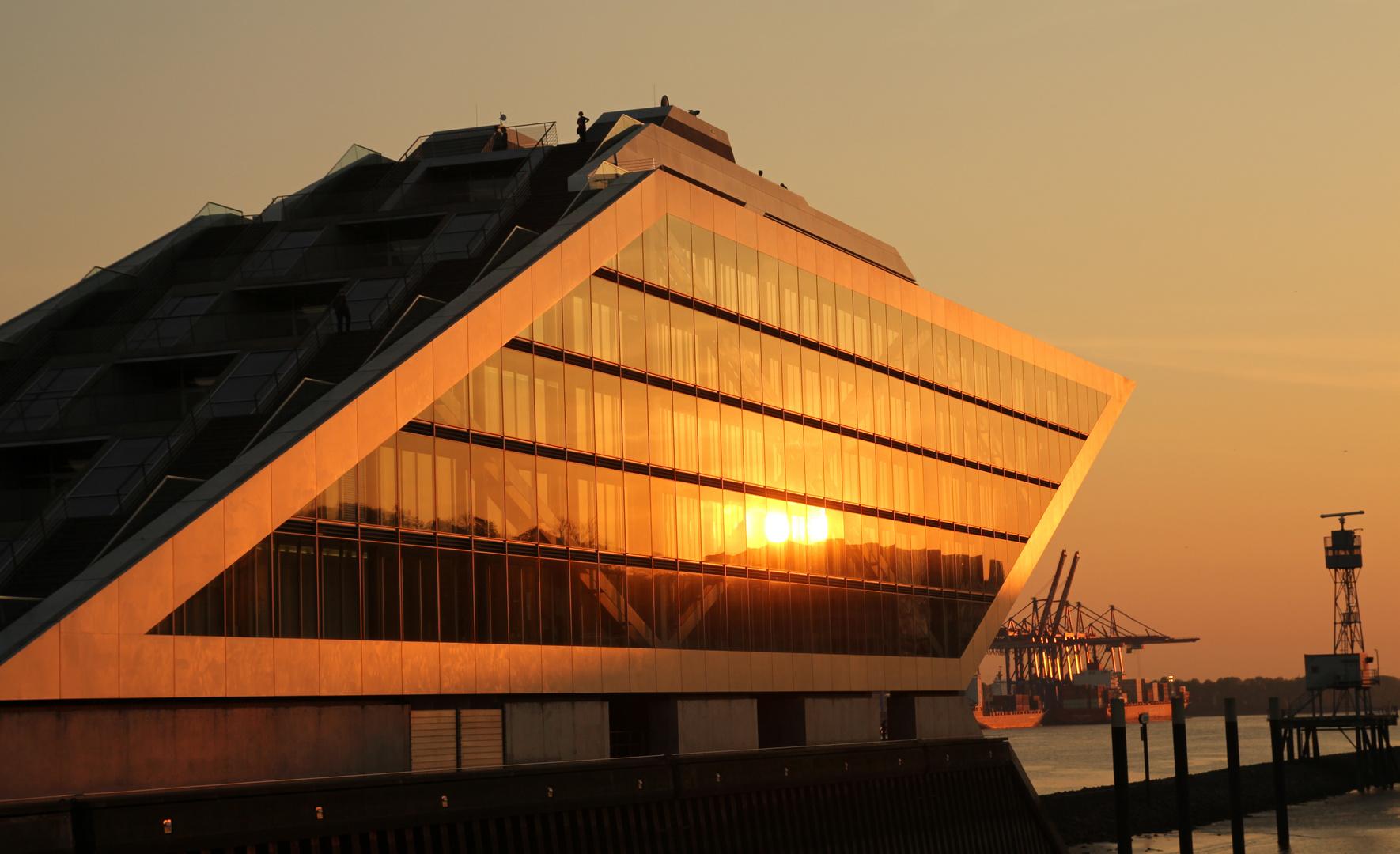Docklands in der Abendsonne