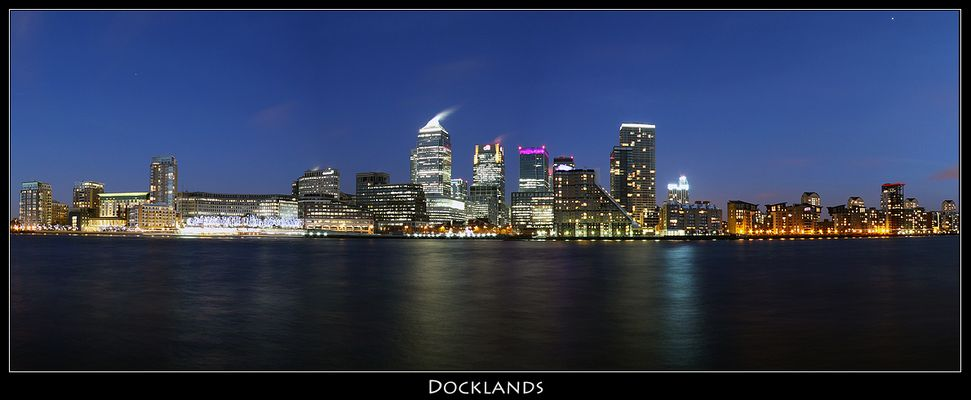 Docklands In The 'Blue Hour'