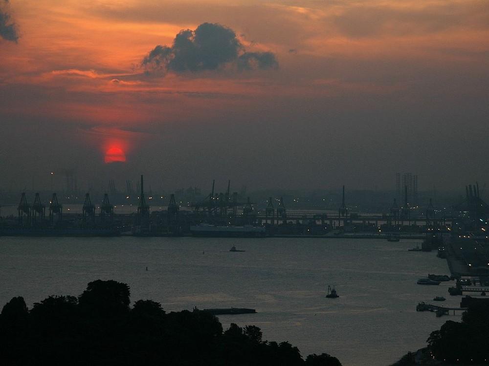 Docks in Evening Dust