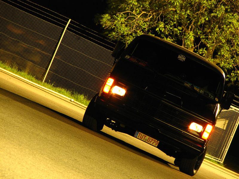 Dodge Van by night