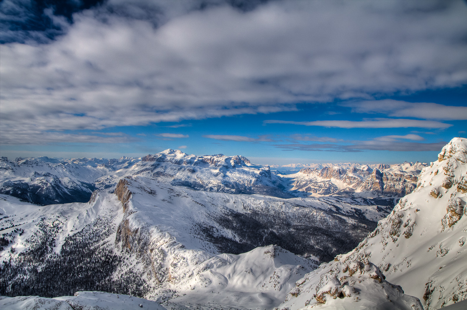 Dolomiten bei besten Wetter