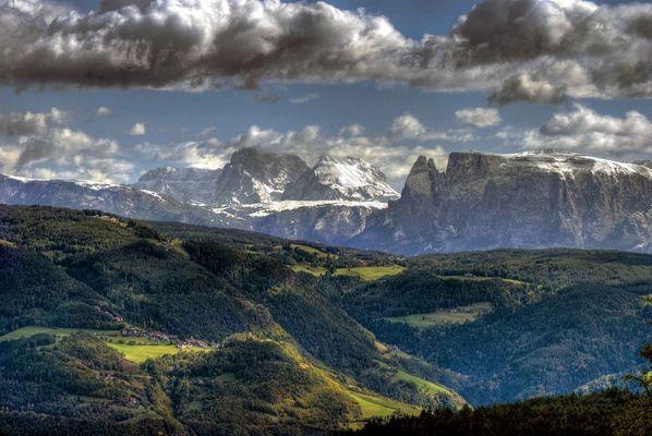 Dolomiten, von Jenesien aus gesehen