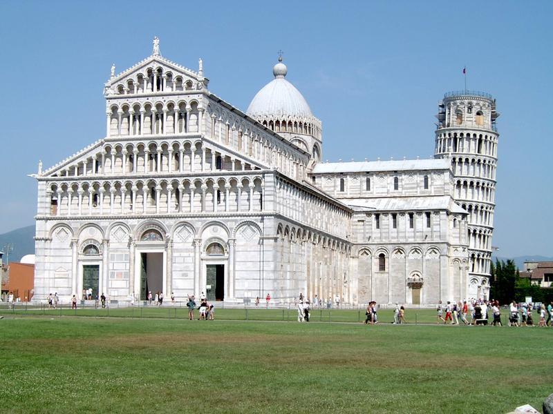 Dom zu Pisa und sein schiefer (Glocken-)Turm