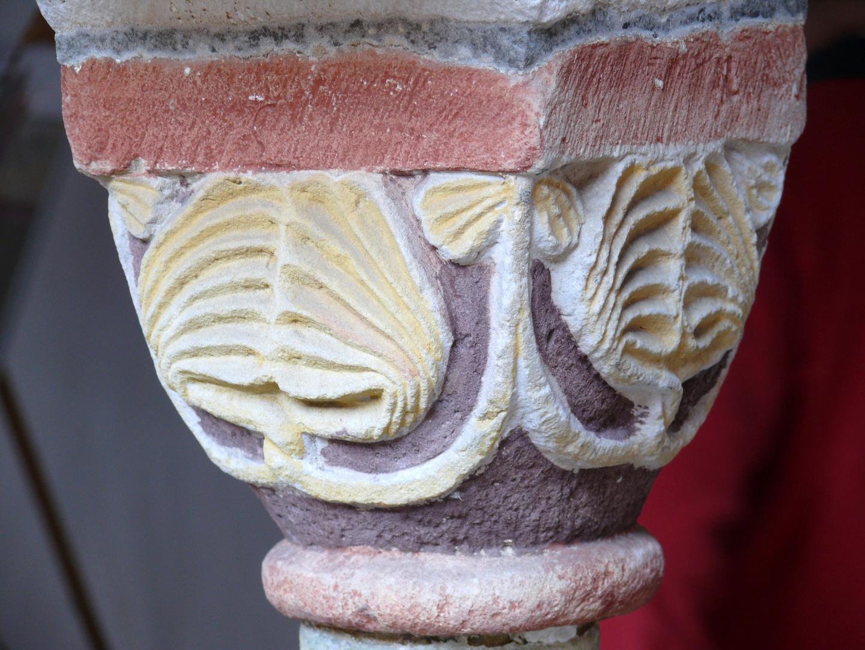 Dom zu Verden a.d. Aller: Säulenkapitell im Kreuzgang