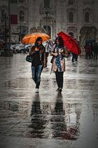 Domenica mattina, sotto la pioggia