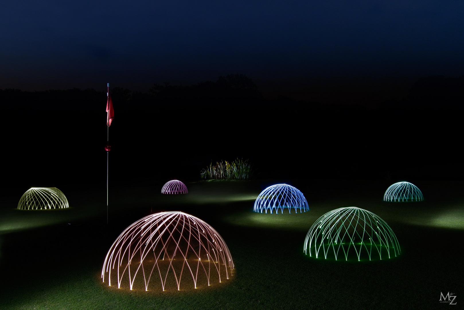 domes on a golf place