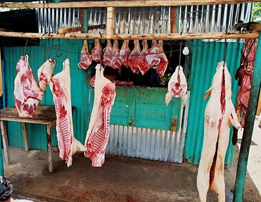 Dominikanische Fleischerei