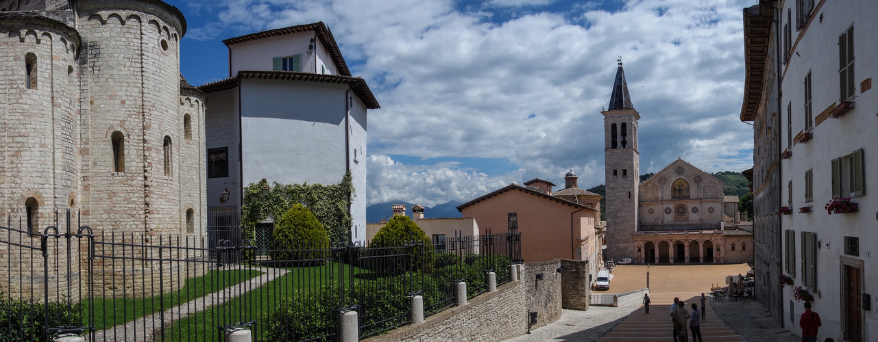 Domplatz Spoleto; Umbrien