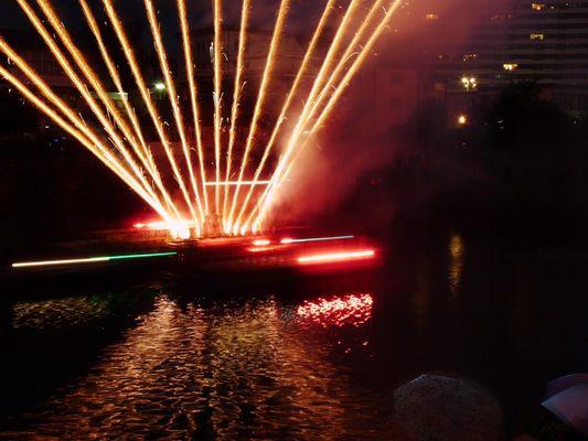 Donau in Flammen