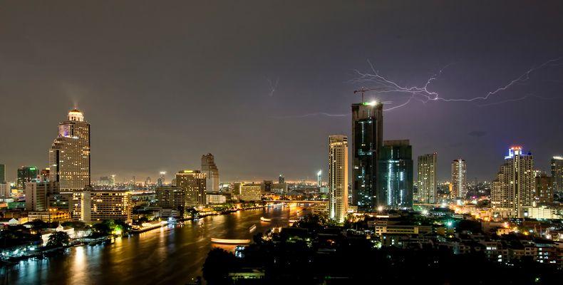 Donnerwetter in Bangkok