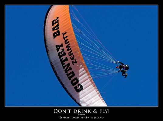 Don't drink & fly!